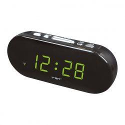 Часы Vst 715-2 Green LED+БП