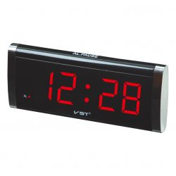 Часы Vst 730-1 Red LED