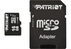 MicroSDHC 16GB UHS-I Class 10 Patriot LX + SD-adapter (PSF16GMCSDHC10)