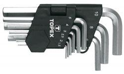 Ключи шестигранные 1.5-10 мм Topex, набор 9 шт. (35D955)
