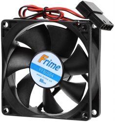 Вентилятор Frime 80*80*25 4pin Black(FF80SB4)