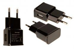 Сетевое зарядное устройство Grand-X (1xUSB 5В/2.1А) Black (CH-03B)