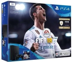 Sony PlayStation 4 1TB Slim + игра FIFA 18/ PS+14Day_