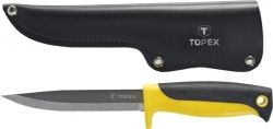 Нож универсальный Topex, с кожанным чехлом (98Z103)