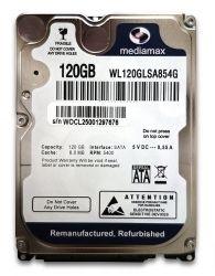 "Жесткий диск 2.5"" 120Gb Mediamax, SATA2, 8Mb, 5400 rpm (WL120GLSA854G) (Ref)"
