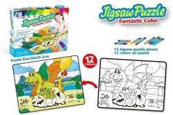 Пазл-раскраска Same Toy Семья драконов (2162Ut)
