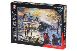 Пазл Same Toy Поезд в зимнем городе (88008Ut)