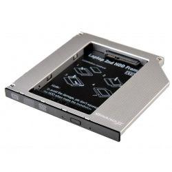 "Адаптер Grand-X для подключения HDD 2.5"" в отсек привода ноутбука SATA/SATAIII Slim 9.5мм (HDC-24N)"