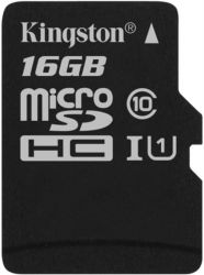 MicroSDHC 16GB UHS-I Class 10 Kingston Canvas Select (SDCS/16GBSP)
