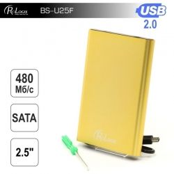 "Карман внешний 2,5"" ProLogix SATA HDD 2.5"", USB 2.0, Gold (BS-U25F)"