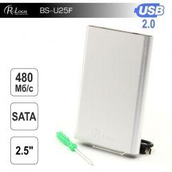 """Карман внешний 2,5"""" ProLogix SATA HDD 2.5"""", USB 2.0, Silver (BS-U25F)"""