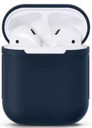 Чехол Nomi для наушников Apple AirPods Dark Blue (348527)