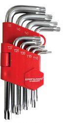 Набор ключей Бригадир Standart Torx T10-T50 9шт (66105000/57-002)