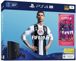Sony Playstation 4 1TB Pro + игра FIFA 19
