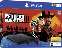 Sony PlayStation 4 1TB Slim + игра Red Dead Redemption 2
