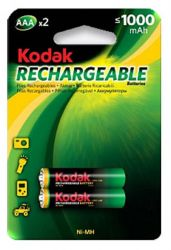 Аккумулятор Kodak Rechargeable AAA/HR03 NiMh 1000 mAh BL 2шт