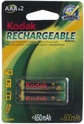 Аккумулятор Kodak Rechargeable AAA/HR03 NiMh 650 mAh BL 2шт