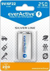Аккумулятор everActive 6LR61 250mAh BL 1шт