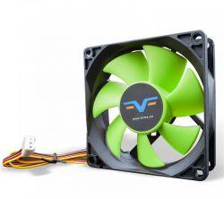 Вентилятор Frime (FGF80HB3) 80x80x25мм, 3Pin, Black/Green