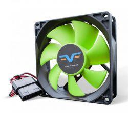 Вентилятор Frime (FGF80HB4) 80x80x25мм, molex, Black/Green