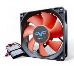 Вентилятор Frime (FRF80HB4) 80x80x25мм, molex, Black/Red