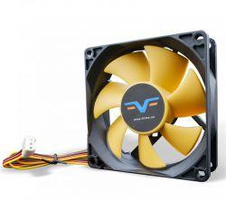 Вентилятор Frime (FYF80HB3) 80x80x25мм, 3Pin, Black/Yellow