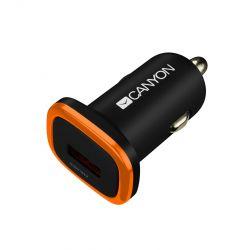 Автомобильное зарядное устройство Canyon (1USB, 1A) Black (CNE-CCA01B)