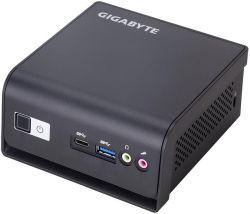 "Неттоп Gigabyte Brix GB-BLPD-5005R, Black, Pentium Silver J5005 (4x1.5-2.8 GHz), 1xDDR4 SO-DIMM, UHD Graphics 600, 1x2.5"" HDD/SDD, RTL8111HS, WiFi, Bluetooth, 4xUSB3.0, CardReader, 2xHDMI, VGA, DOS"