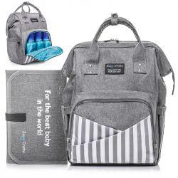 Сумка-рюкзак Zupo Crafts ZC-10 Grey (LP6765) + пеленальный матрас