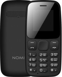"Мобильный телефон Nomi i144c Black, 2 Sim, 1.44"" (128x128) TN, microSD (max 32Gb), BT, FM, Li-Ion 600mAh"