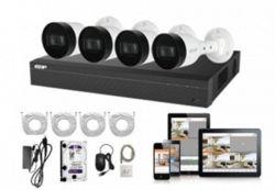 Комплект видеонаблюдения Dahua NVR1B04HC-4P/E/4-B1B20 EZIP-KIT
