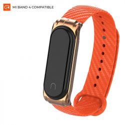 Ремешок Armorstandart Carbon Silicone Series для Xiaomi Mi Band 4/3 Orange (ARM55197)