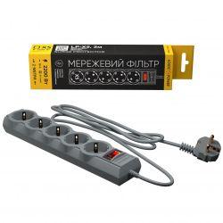Фильтр питания LogicPower 5 розеток 2м  LP-X5 Premium Grey (LP9586)
