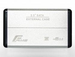 """Карман внешний 2.5"""" Frime (FHE21.25U30) USB 3.0 Silver, Metal"""