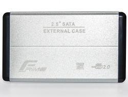 """Карман внешний 2.5"""" Frime (FHE21.25U20) USB 2.0 Silver, Metal"""