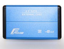 "Карман внешний 2.5"" Frime (FHE22.25U20) USB 2.0 Blue, Metal"