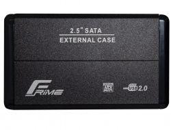 """Карман внешний 2.5"""" Frime (FHE20.25U20) USB 2.0 Black, Metal"""