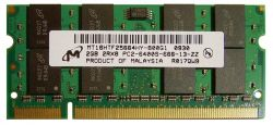 SO-DIMM 2GB/800 DDR2 Micron (MT16HTF25664HY-800G1) Refurbished