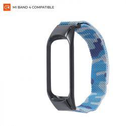 Ремешок Armorstandart Metal Milanese Magnetic для Xiaomi Mi Band 4/3 Camo Blue (ARM55547)