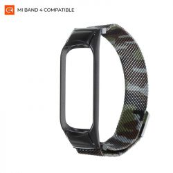Ремешок Armorstandart Metal Milanese Magnetic для Xiaomi Mi Band 4/3 Camo Green (ARM55546)