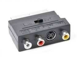 Двунаправленный аудио-видео адаптер SCART/RCA/S-VIDEO Cablexpert CCV-4415 - Картинка 1