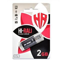 USB Flash Drive 2Gb HI-RALI Rocket series Black, HI-2GBRKTBK