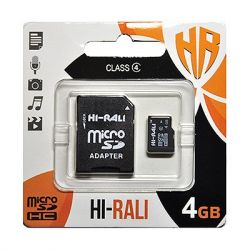 MicroSDHC   4GB Class 4 Hi-Rali + SD-adapter (HI-4GBSDCL4-01)