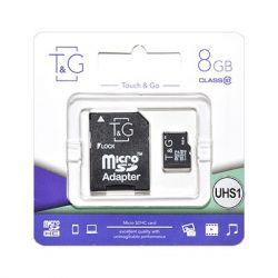 MicroSDHC   8GB UHS-I Class 10 T&G + SD-adapter (TG-8GBSD10U1-01)