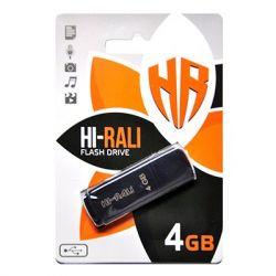 USB Flash Drive 4Gb Hi-Rali Taga Black, HI-4GBTAGBK
