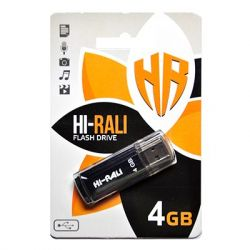 USB Flash Drive 4Gb Hi-Rali Stark series Black, HI-4GBSTBK