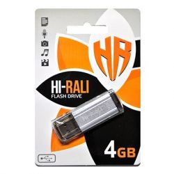 USB Flash Drive 4Gb Hi-Rali Stark series Silver, HI-4GBSTSL