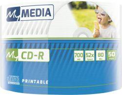 CD-R MyMedia (69203) 700MB 52x Wrap 50шт Printable
