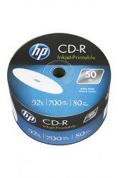 CD-R НР (69301 /CRE00070WIP-33) 700MB 52x IJ Print, без шпинделя, 50 шт