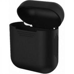 Чехол MakeFuture Silicone для Apple AirPods 1/2 Black (MCL-AA1/2BK)